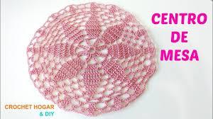 teje centro de mesa a crochet redondo