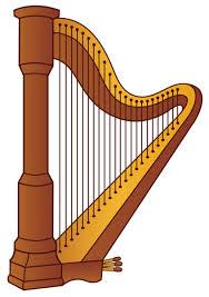 Harp PNG Clipart Picture | Instrumentos musicais, Violoncelo, Harpa