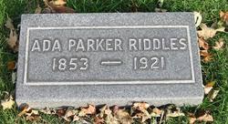 Ada Parker Riddles (1853-1921) - Find A Grave Memorial