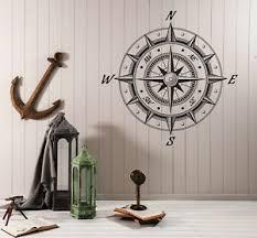Wall Vinyl Decal Sea Nautica Compass Wind Rose Retro Style Decor N986 Ebay