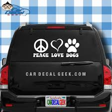 Peace Love Dogs Paw Print Vinyl Decal Sticker