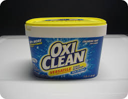get the tough sns out with oxiclean