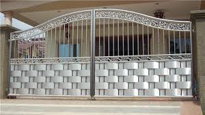 Main Gate On Invaber Stainless Steel Main Gate Design Main Gate Designs In Residential Electric Factory Main Sliding Gate Stylist Stainless Steel Main Gate Aluminium Wood Color Design Beautiful Aluminium Wood
