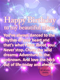 sweet birthday wishes for niece happy birthday quotes to my