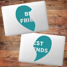 Best Friends Heart Device Decals Wall Art Wall Murals