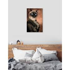 The Oliver Gal Artist Co Siamese Gentlemen By Oliver Gal Printed Wall Art 27660 16x24 Canv Xhd The Home Depot