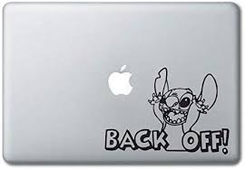 Stitch Backoff Disney Printed Clear Vinyl Decal Sticker Compatible With Apple Macbook Pro Air 11 12 13 15 All Years Laptop Trackpad Keyboard 13 Macbook All Models Amazon Co Uk Computers Accessories