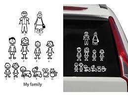 12 Stick Figure Family Your Stick Figure Family Pet Cat Dog Stickers For Car Windows Bumper Phone Notebook Vinyl Decal Newegg Com