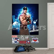 Wwe John Cena Montage Mural Wall Decal Wall Decal Allposters Com