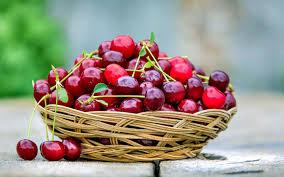 تحميل خلفيات الكرز التوت سلة مع الكرز التوت الأحمر الفواكه