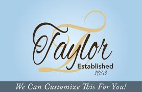 Taylor Established In Year Custom Family Logo Name In Cursive A Wall Deocr Vinyl Lettering Decal Sticker 2182