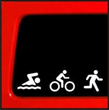 Triathlon Decal Swim Bike Run Bumper Sticker Car Window Ironman Decal Stickerconnection