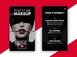 teach me makeup ios app onboarding