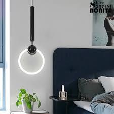 simple modern hanging lamps iron ring