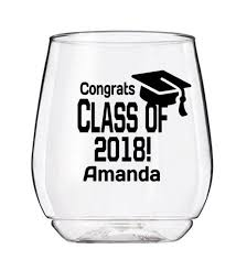 2018 Graduation Party Cup Decal Personalized Graduation Wine Etsy
