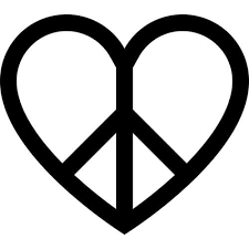 Love Peace Symbol Decal Sticker Love Peace Decal Thriftysigns