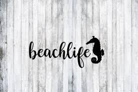 Beach Life Seahorse Decal Beach Life Sea Horse Decal Marine Etsy