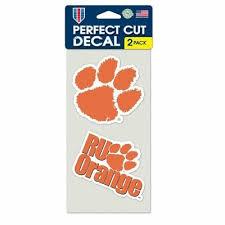Clemson Tigers Decals Pack Of 2 Die Cut Car Stickers Truck Decal Emblem Ebay