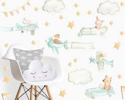 Transportation Nursery Baby Room Baby Decals Cars Decals Woodland Decal Nursery Plane Animal Decals Room Baby Wall Stickers Baby Decals Woodland Decal