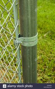 Chain Link Fence Hardware Stock Photo Alamy