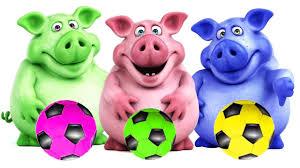 Aprende los Colores con Balones de Futbol y Mr Pig - Colores Para ...
