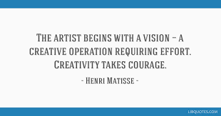 The artist begins with a vision — a creative operation requiring ...