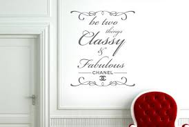 Chanel Be Two Things Classy And Fabulous Wall Sticker Etsy