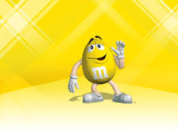yellow m m character hd wallpaper