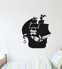 Breakwater Bay Pirate Ship Jolly Roger Vinyl Wall Decal Wayfair