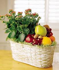 ftd fruits and flowers gift basket