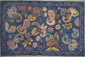 paisley mix up rug hooking rug