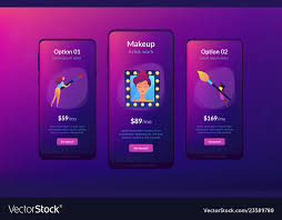 app interface template vector image