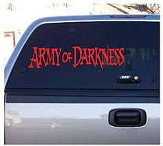 Amazon Com Army Of Darkness Evil Dead Halloween Horror Red Vinyl Decal Bumper Computer Sticker Cling Scary Halloween Everything Else
