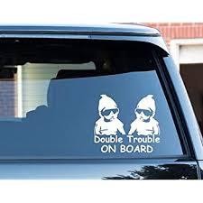 Amazon Com Slap Art Grandma Of Twins Boy Boy Vinyl Decal Bumper Sticker Automotive