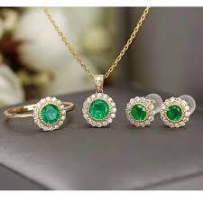 colife jewelry silver emerald jewelry