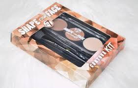 w7 shape your face contour kit review