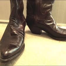 kangaroo leather cowboy boots