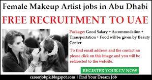 female makeup artist jobs in abu dhabi