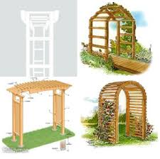 free arbor plans for yard and garden