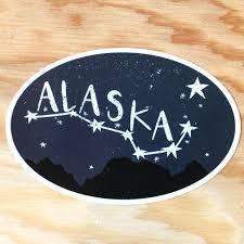 Bumper Sticker Alaska Big Dipper Due North Stationery Etsy