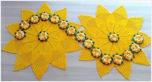 camino de mesa elegante en crochet paso