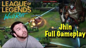 Wild Rift Jhin Full Gameplay! (English Commentary) | League of Legends: Wild  Rift - YouTube