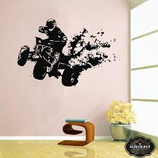 Wall Decal Atv Quad Bike Quadrocycle Atv Race Motor Four Etsy