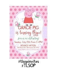 Invitaciones De Cumpleanos De Peppa Pig Etsy