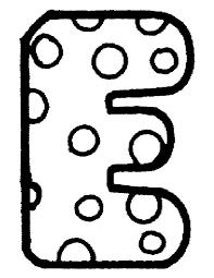 Kids N Fun Kleurplaat Alfabet E