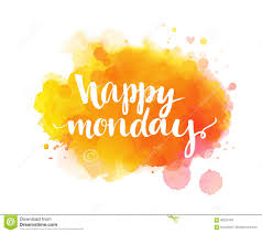happy monday inspirational quote artistic vector stock vector