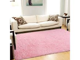 Soft Fluffy Area Rugs For Bedroom Kids Room Shag Furry Fur Rug For Living Room Boys Girls Modern Plush Nursery Rugs Solid Accent Floor Carpet 5x8 Feet Pink Newegg Com