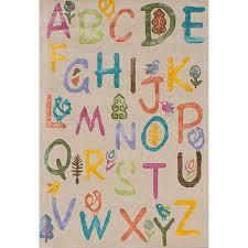 Aviva Nature Alphabet Wool Colors Rug