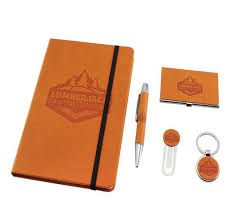 gifts set with golf gift and notebook