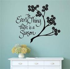 To Everything There Is A Season Vinyl Decal Wall Art Stickers Letters Words Ebay Vinyl Wall Decals Decal Wall Art Sticker Wall Art